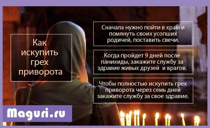 молитвы для снятия любовных приворотов