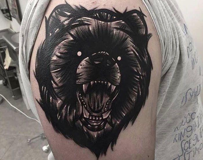 Славянский медведь тату
